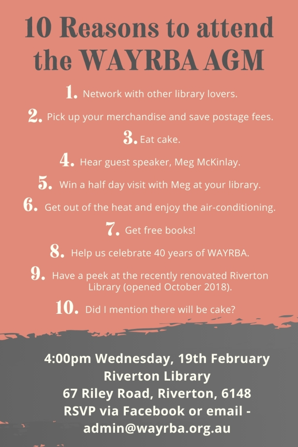 10 Reasons to attend the WAYRBA AGM